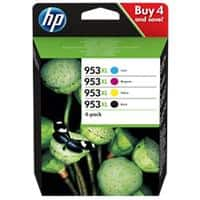 HP 953XL Original Ink Cartridge 3HZ52AE CMYK Pack of 4