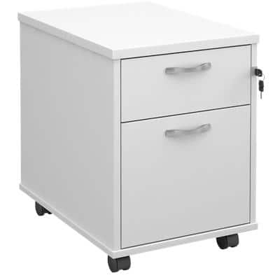 Pedestal with 3 Lockable Drawers MFC 426 x 600 x 567mm White