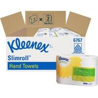 Kleenex Hand Towels 6767 1 Ply Rolled White 2 Rolls of 400 Sheets