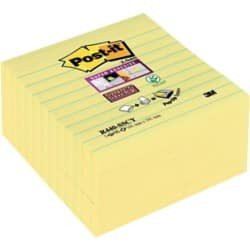 Post-it Z-Sticky Notes Yellow Ruled 101 x 101 mm 70gsm 5 pieces of 90 sheets