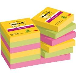 Post-it Super Sticky Notes Rio Assorted 48 x 48 mm 70gsm 12 pieces of 90 sheets