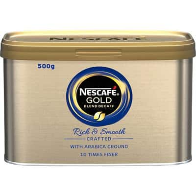 NESCAFÉ Gold Blend Rich & Smooth Instant Ground Coffee Tin Decaffeinated 500g