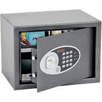 Phoenix Security Safe with Electronic Lock Vela Home & Office SS0802E 350 x 250 x 250mm Metallic Graphite