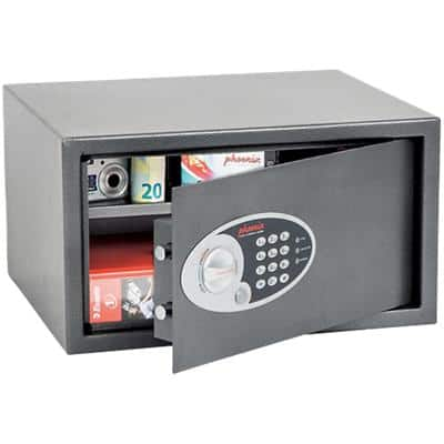 Phoenix Security Safe with Electronic Lock Vela Home & Office SS0803E 450 x 365 x 250mm Metallic Graphite