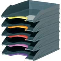 DURABLE Varicolor Set of 5 Letter Trays Assorted Colours