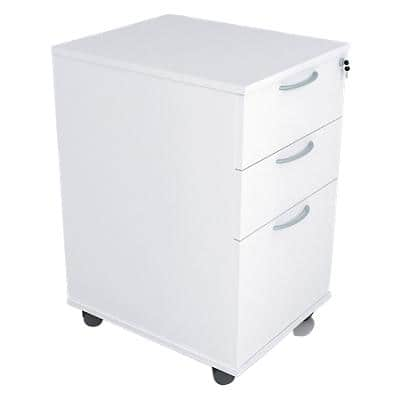 Mobile Pedestal PSR535 White 500 x 415 x 638 mm