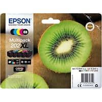 Epson 202XL Original Ink Cartridge C13T02G74010 2 Black & 3 colour 5 Pieces