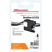 Office Depot Compatible Brother LC123 Ink Cartridge Black