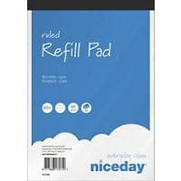 Niceday A5+ Top Bound Blue Paper Cover Refill Pad Ruled 160 Pages Pack of 5