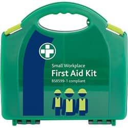 Green First Aid Kit For Workplace Small Aura Box