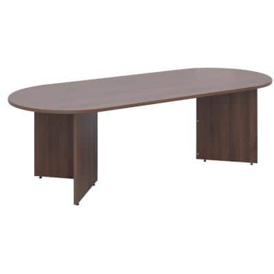 Dams International Rectangular Boardroom Table with Walnut Coloured MFC Top and Walnut Coloured Frame EB24W 2400 x 1000 x 725 mm