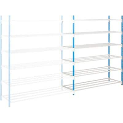 ARNO SPACE Following Bay Shelving Unit with 6 Shelves 750 x 1000 x 1750mm Blue, Grey
