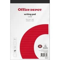 Office Depot Writing Pad A5+ Ruled 5 Pieces of 100 Sheets