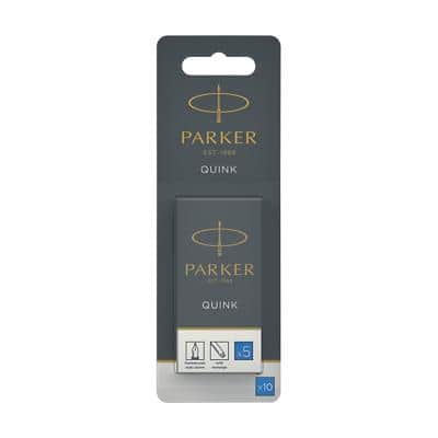 Parker Ink Cartridge Refill Quink Blue Pack of 10