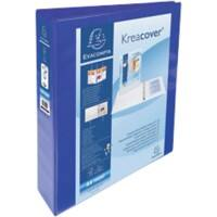 Exacompta Ring Binder 4 ring 50 mm Polypropylene A4 Blue