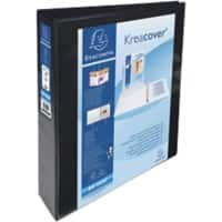 Exacompta Ring Binder 4 ring 50 mm Polypropylene A4 Black