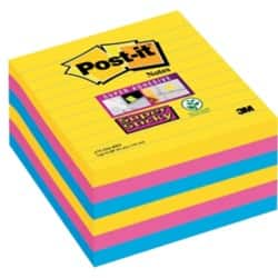 Post-it Super Sticky Notes Rio Assorted Ruled 101 x 101 mm 70gsm 6 pieces of 90 sheets