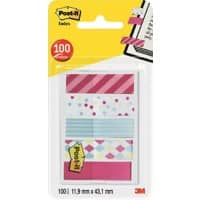 3M Super Sticky Notes Candy Assorted 43.2 x 11.9 mm 20 Sheets