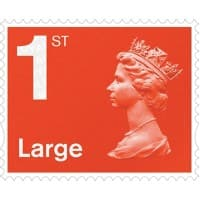Royal Mail 1st Class Large Letter Postage Stamps Self Adhesive Pack of 4
