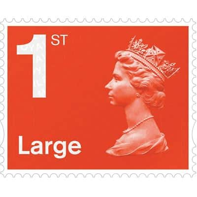 Royal Mail 1st Class  Postage Stamps 4 Pieces