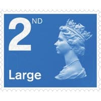 Royal Mail 2nd Class Large Letter Postage Stamps Self Adhesive Pack of 4