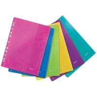 Leitz Punched Pockets A4 Assorted Polypropylene 23.5 x 31.2 cm 6 Pieces