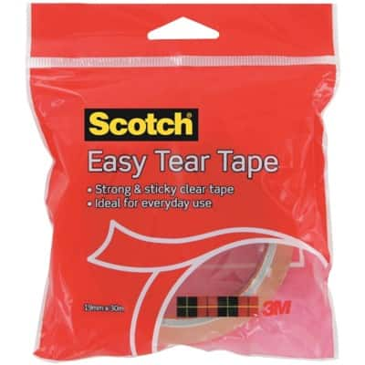 Scotch Easy Tear Tape 19 mm x 30 m Transparent