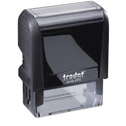 Trodat Custom Text Stamp 4915 Black plastic