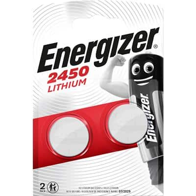 Energizer Button Cell Batteries CR2450 3V Lithium Pack of 2