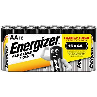 Energizer AA Alkaline Batteries Power LR6 1.5V 16 Pieces