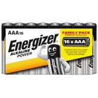 Energizer AAA Alkaline Batteries Power LR03 1.5V 16 Pieces