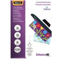 Fellowes Laminating Pouches Glossy 80 Micron A3 100 Pieces