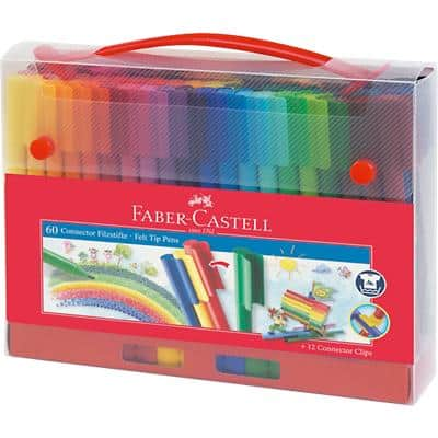 Faber-Castell Felt Tip Pens 155560 3 mm Assorted 60 Pieces