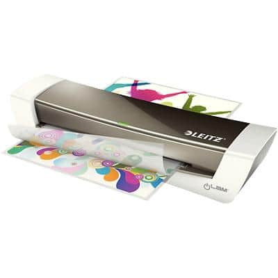 Leitz iLAM Home Office A4 Laminator, 300 mm/min. Warm Up Time 3 min up to 2 x 125 (250) Micron