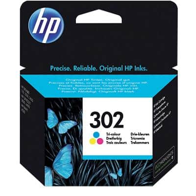HP 302 Original Ink Cartridge F6U65AE 3 Colours