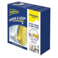 Sellotape Hook and Loop Pads 2055786 White, Yellow