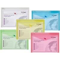 Snopake Document Wallet A4+ Assorted Polypropylene 33 x 22.5 cm Pack of 5