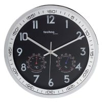 TechnoLine Analog Wall Clock WT 7981 30 x 5cm Silver & Black