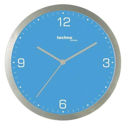 TechnoLine Analog Wall Clock WT 9000 30 x 3.3cm Blue