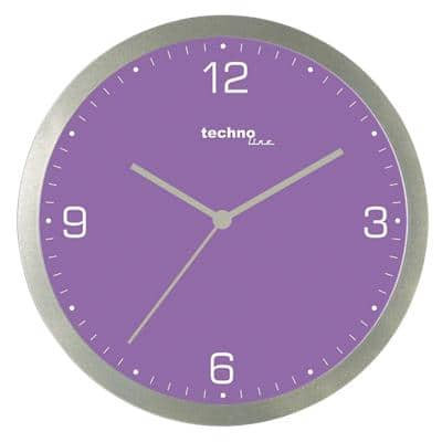 TechnoLine Analog Wall Clock WT 9000 30 x 3.3cm Violet
