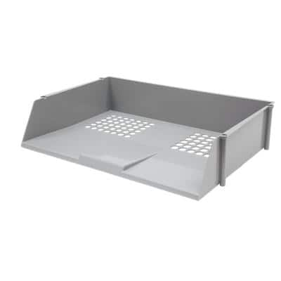 Niceday Letter Tray Plastic Grey