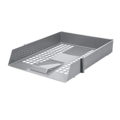 Niceday Letter Tray Plastic Grey 27.5 x 35 x 6.1 cm