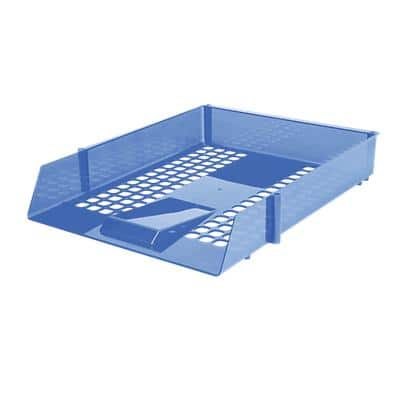 Niceday Letter Tray Plastic Translucent Blue 27.5 x 35 x 6.1 cm