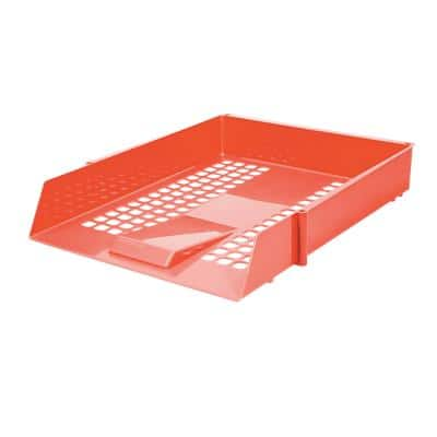 Niceday Letter Tray Plastic Red 25.6 x 35 x 6.7 cm