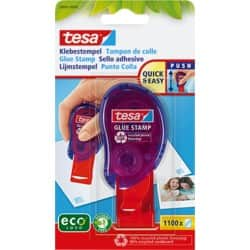 tesa Glue Stamp Low Odour Blue, Red