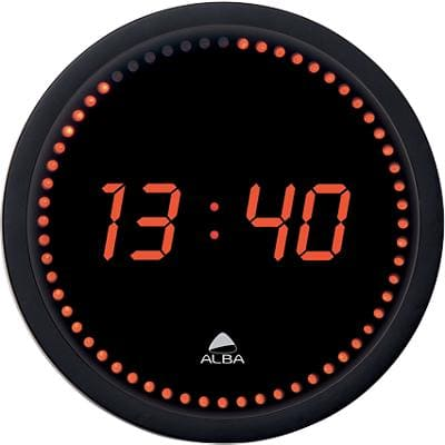 Alba Wall Clock HORLED 30 x 4 cm Black, Red