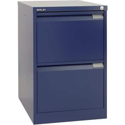 Bisley Filing Cabinet with 2 Lockable Drawers 1623 470 x 620 x 710mm Blue
