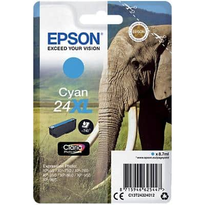 Epson 24XL Original Ink Cartridge C13T24324012 Cyan