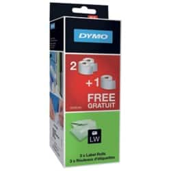 DYMO Multi Purpose Labels LW (2 + 1 free) 54 x 101 mm White
