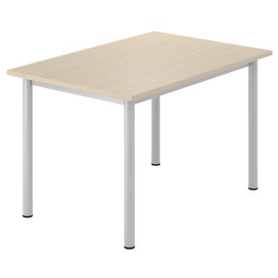 Rectangular Desk with Oak Coloured MFC Top and Silver Frame Optima G 1200 x 800 x 720 mm